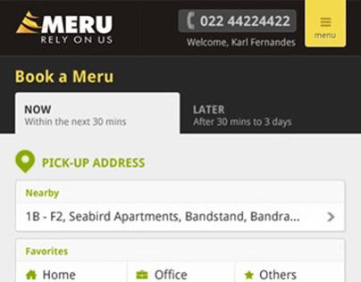 Meru Mobile Landing Page