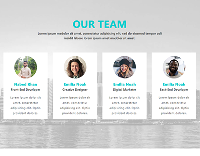 Our Team Section Design With Bootstrap