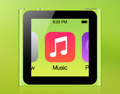 iPod nano 6G with iOS 7
