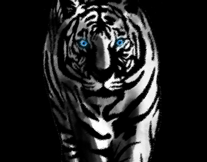 white tiger in art