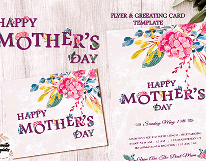 happy Mother's Day Flyer & Greeting card template