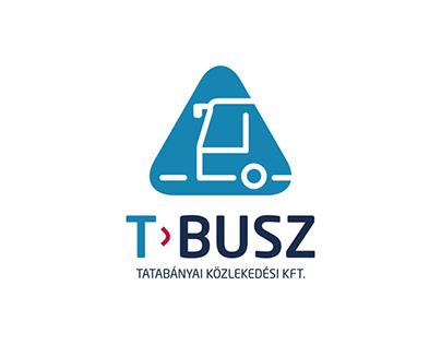 T-Busz Arculat Tatabánya közlekedési hálózata