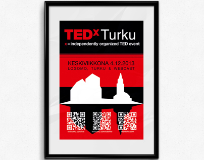 TEDxTurku Visual Identity and Print Material