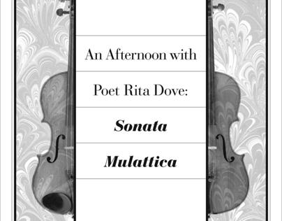 Rita Dove Lecture Poster