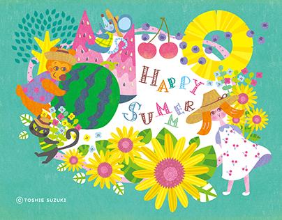 Summer greeting card (Original)