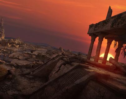 Digital Tutors Training - Ancient Temple Concept Art