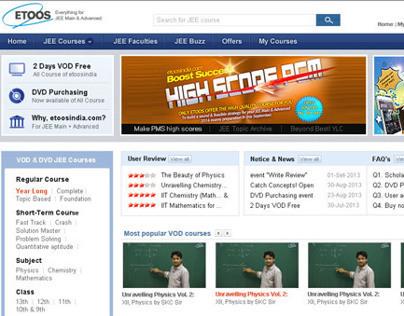 Etoosindia.com offer e-learning VOD for IITJEE tutorial