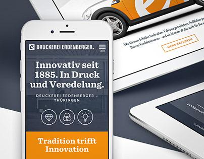 Druckerei Erdenberger — Website for a Printing Company