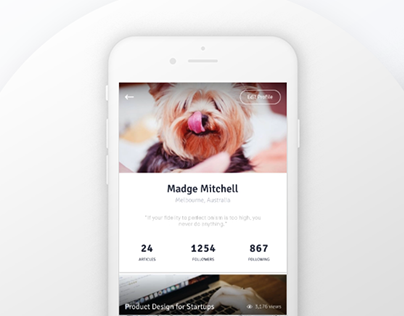 Daily UI#06 - User Profile