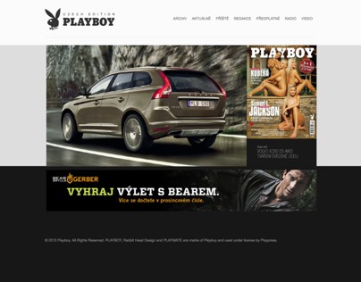 PLAYBOY Czech Edition WebDesign