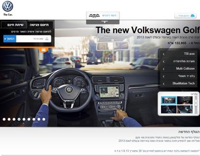 Volkswagen new dynamic microsite