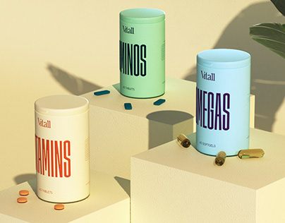 Vitall Supplements - Packaging Concept