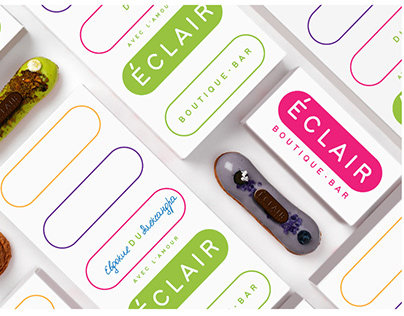 Identity and VIS for the confectionery ECLAIR