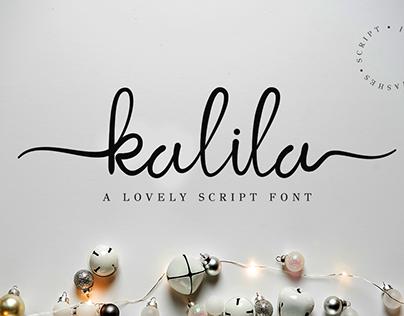 Kalila lovely script