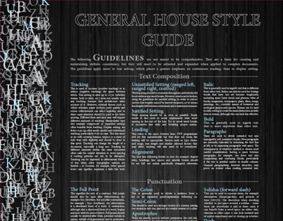 General House Style Guide Poster