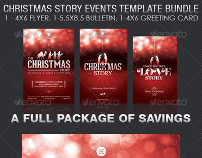 Christmas Story Events Templates Bundle on Behance