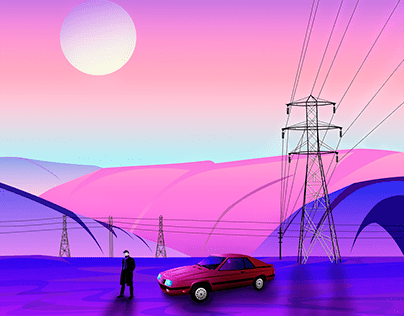 Lonely Places - Vector Illustrations