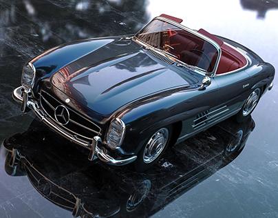 Mercedes Car CGI