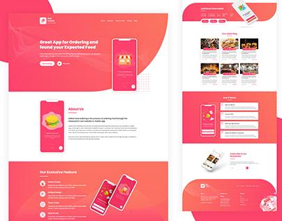 Foodie Modern App Landing Page