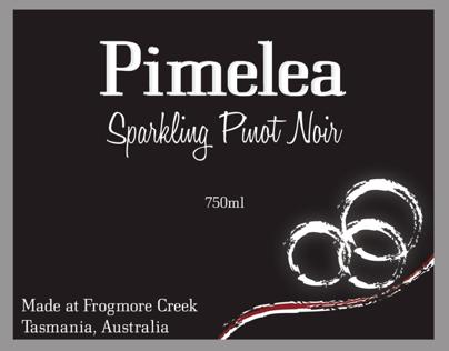 Pimelea wine, Label design