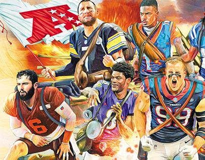 NFL 2019 Illustrations for Excélsior Newspaper México