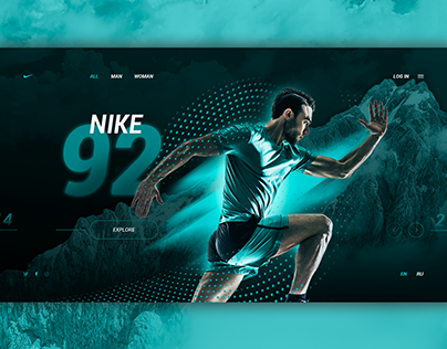 Nike exclusive web-site design by Zk