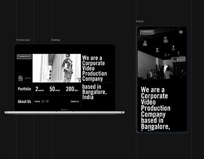 Tesserac Production House - Web design