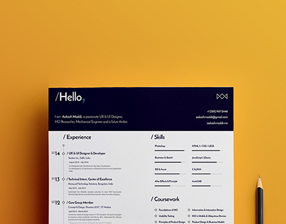 Design Resume | Personal Branding Project