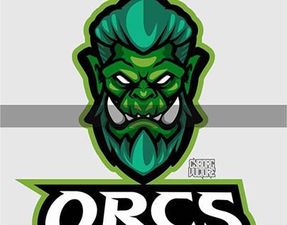 Orcs e sports logo mascot