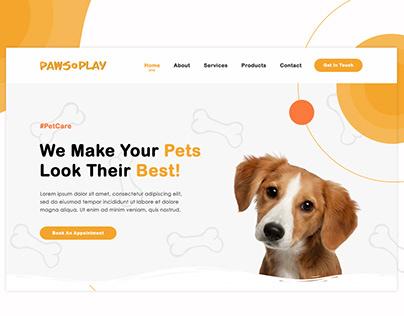 Pet Grooming Web Design | Paws N' Play