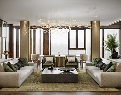 Concept of private apartment Legenda Tsvetnogo, 2016