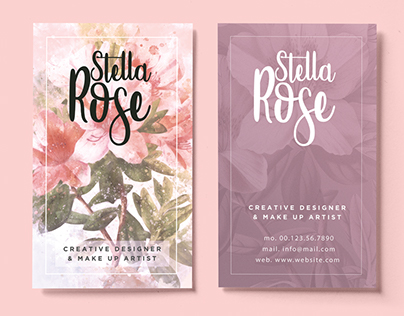 Floral Watercolor Business Card