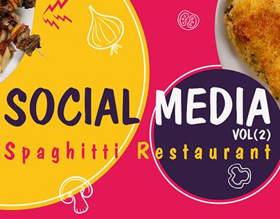 Social media VOL.2 Spaghitti Restaurant