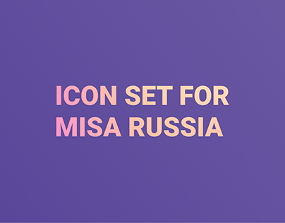 Icon set for MISA Russia