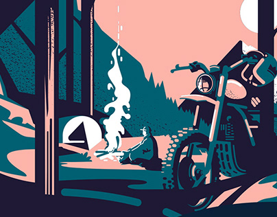 T-shirt Design Outsiders Motorcycles