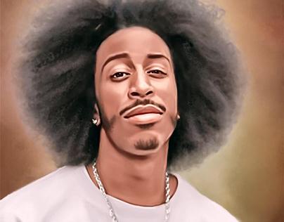 Ludacris Digital Oil Painting by Wayne Flint