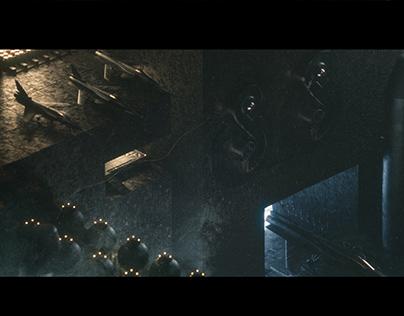 Space colony (Cinema4D)