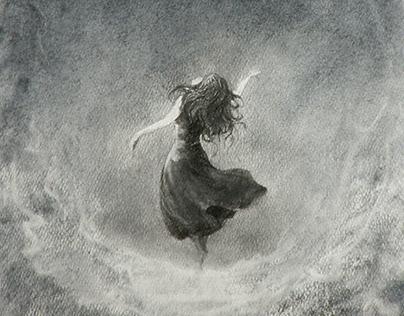 "Graphics art. ""Dancing in the void""."