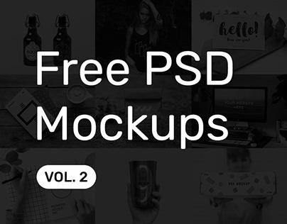 Free PSD Mockups vol. 2
