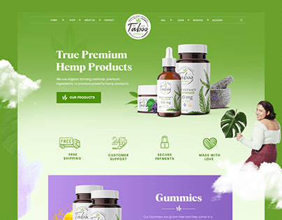 CBD Products - Homepage design