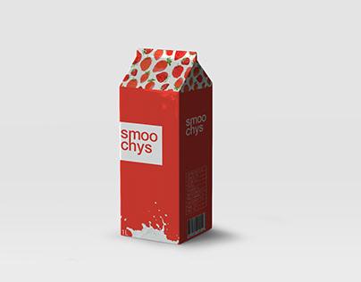 "Milk packaging for ""SMOOCHYS"""