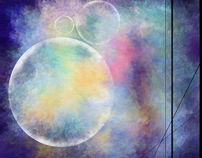 Abstract Bubbles - Digital Painting