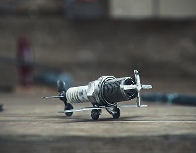 Spark Plug Airplane