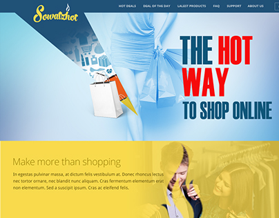 Homepage concept of Sowatzhot (old project)