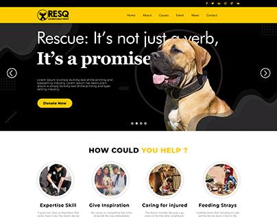Resq Non Profit Organization Website