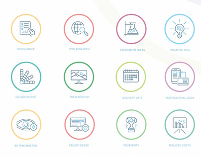 Creative Icons set Identity design