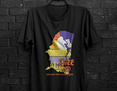 Vintage Rock Claiming T-shirt Design