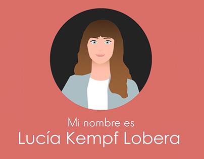 Vídeo CV Lucía Kempf Lobera