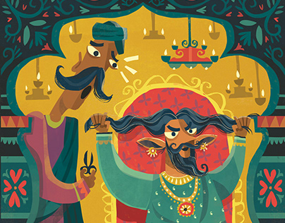 The King and The Drum - NatGeo Learning Illustrations