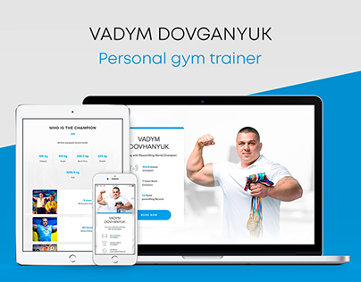 Responsive web site design for personal gym trainer